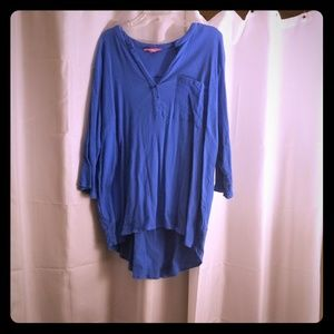 Bright blue tunic